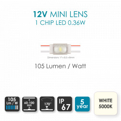 12mm RGBW LED Strip IP20 Power Connector